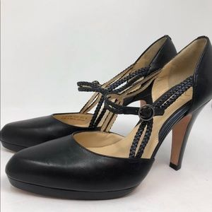Cole Haan Leather Pumps Heels Platform Mary Jane